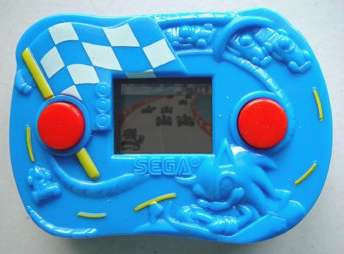 "The ""Sonic Speedway"" handheld LCD game given away with McDonald's Happy Meals in 2003"